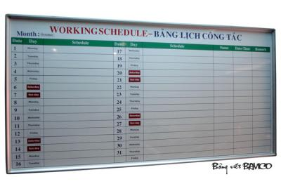 Bảng ghi lịch công tác