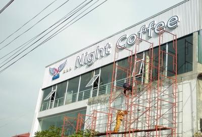 Bảng hiệu mặt dựng night coffee