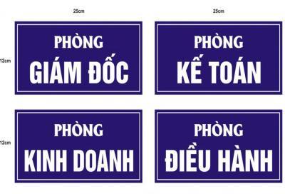 BẢNG TÊN PHONG - CHỨC DANH