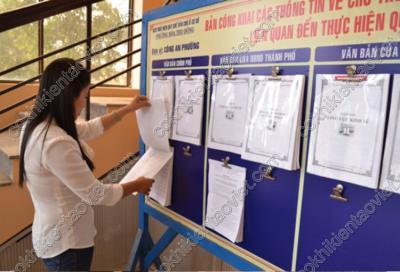 Bảng thông báo học sinh
