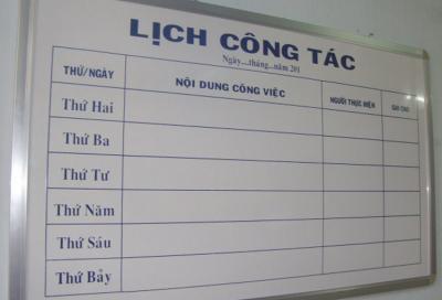 Bảng thông báo lịch công tác