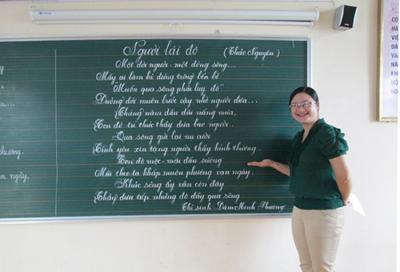 Bảng viết phấn trường lớp