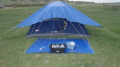 Bạt che nắng mưa cho lều trại