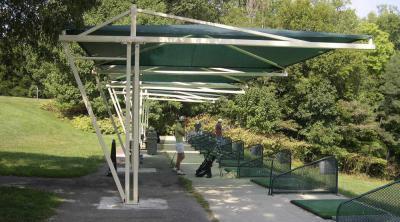 Mái che sân đánh golf