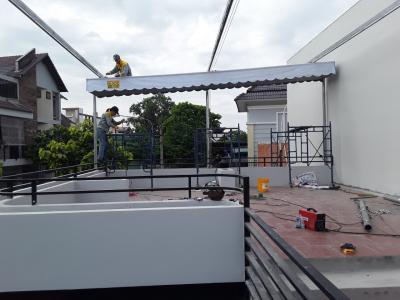 Thi công mái che di động tại Dĩ An, Bình Dương